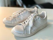 Damen :: Adidas Klassiker Stan Smith Leder Weiß All White :: Schnürer :: 38 2/3