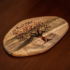 Personalised Family Tree Mango Wood Cheese Board Chopping Board Wooden Gift