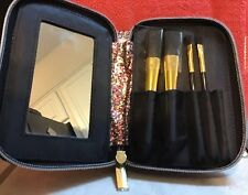 Makeup brush set By Simple Pleasures . New With Tags. Zippered Bag With Mirror.