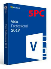 Microsoft Visio Professional 2019 License Key 5 PCs With Download Link