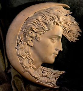 Antique Art Nouveau/Art Deco Bronze WOMAN R MAN Plaque Sculpture Signed French?