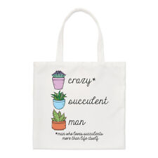 Crazy Succulent Man Regular Tote Bag Funny Joke Plant Fathers Day