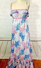 Jonathan Logan prairie  dress 1970's  VTG Maxi bohemian floral gunnie sac