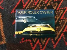 In English 1989 Free Shipping Rolex Your Rolex Oyster Vintage Booklet