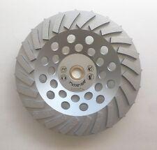 New 7� 24Turbo Segments 7/8-5/8 Pro. Diamond Grinding Cup Wheel- Premium Quality