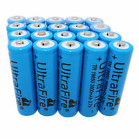 20x18650 3.7V Batteries 3800mAh Li-ion Rechargeable Battery for Flashlight Torch