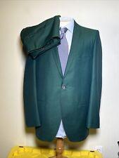 Rare Pristine Vintage Phil Kronfeld 2 Pc Suit Men's 42L 36x34 Green Iridescent