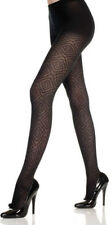 BLACK DIAMOND & CROSS OPAQUE TIGHTS PANTYHOSE SHEER DIGITAL BOHEMIAN
