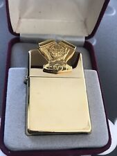 ZIPPO HARLEY DAVIDSON SCULPTURE SERIES ENGINE FIGURE GOLD PLATE 1995 VERY RARE