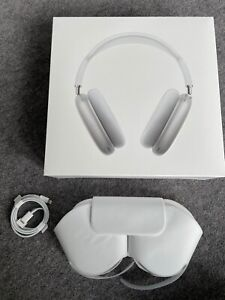 Apple AirPods Max silver case, cable and box (UNUSED)