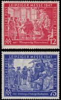 EBS Germany 1947 Allied Occupation Leipzig Autumn Fair Michel 965-966 MNH**