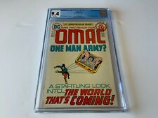 OMAC 1 CGC 9.4 WHITE PAGES JACK KIRBY ORIGIN 1ST APPEARANCE DC COMICS 1974 X