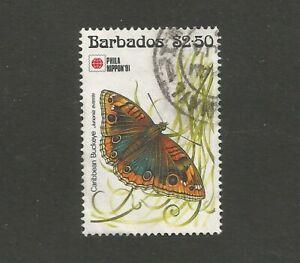 "Barbados ""Phila Nippon '91"" Butterflies. $2.50, used.  SG963"