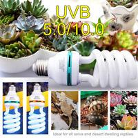 13W E27 REPTILE COMPACT LAMP 5.0 10.0 UV BULB VIVARIUM REPTILES TERRARIUM UVB