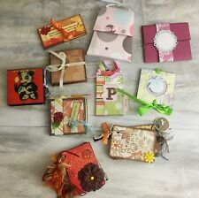 Lot of 10 Stampin Up Hand Made Cards Journals Albums Bookmarks Etc.
