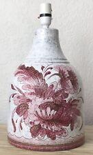 VTG MID CENTURY MODERN ITALIAN ART POTTERY CERAMIC LRG LAMP BASE PINK SGRAFFITO