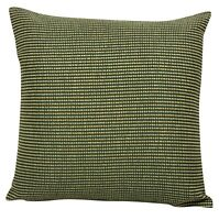 Green Yellow Dotted Stitch Design Cushion Covers 18x18