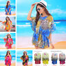 Women Beach Dress Breathable Chiffon Floral Summer Sun UV Protection Clothing