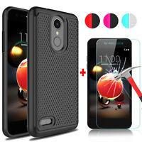 For LG Rebel 4 LTE/Aristo 2/Phoenix 4/Fortune 2 Case+Glass Screen Protector Film
