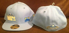 """Denver Nuggets NEW ERA 59FIFTY Fitted Hat NBA Baby Blue """"DN"""" Throwback Sz 6 3/4"""