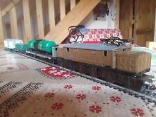 """RIVAROSSI VINTAGE : TRAIN MARCHANDISE années 50"""" avec E626 + 3 wagons des FS."""