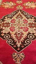 "Exclusive Antique 1940-1950's Wool pile, Natural Dye Runner Rug 3'5""×10'8"""