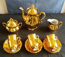 Vintage Gold Lustre Demitasse Coffee Set Winterling Marktleuthen, Bavaria c1950s