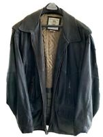 Vintage Banana Republic Black Leather Jacket Men's L