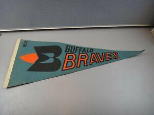 "VINTAGE BUFFALO BRAVES BLUE NBA 1970S FULL SIZE 30"" PENNANT"