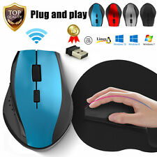 2.4GHz Wireless Optical Mouse Mice USB Receiver Mousepad for Macbook Laptop PC