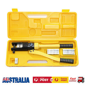 10Ton 12Ton 14Ton Hydraulic Terminal Crimper Wire Cable Lugs Crimping Tool Kit