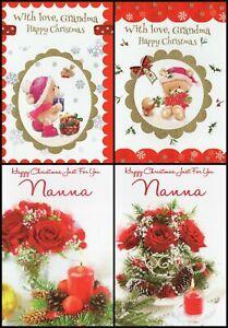 'GRANDMA / NANNA' CHRISTMAS GREETING CARD - MULTIPLE DESIGN'S - FREE P&P