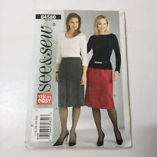 See & Sew 4580 Size 14-20 Misses' Misses' Petite Skirts