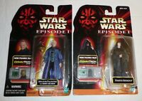 Star Wars Lot of 2 Action Figures - Darth Sidious Senator Palpatine Emperor