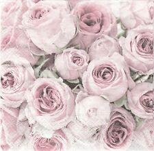 3 Serviettes en papier Cocktail Roses Vintage Decoupage Paper Napkins Rose Sagen