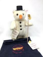Steiff Snowman Teddy Bear  Four Seasons Series Mohair 14.1 inches (36 cm) -NEW