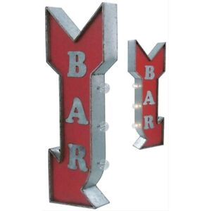 Bar Arrow Vintage Marquee LED Lights Sign Wall Art.
