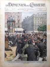 La Domenica del Corriere 3 Agosto 1902 Congregazioni Francia Papa Rosso Russia