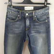 Paper Denim & Cloth Womens Jeans Blue W24 Cotton Bootcut Light Wash Zipper Fly
