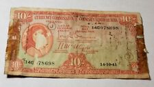 1941 Ireland 10 Shillings Banknote Papermoney
