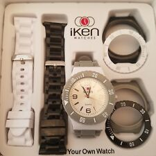 Iken Build Your Own Watch Gray White And Black Gift Box