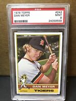 Dan Meyer 1976 Topps #242 PSA 9 Detroit Tigers