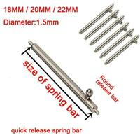 10Pcs/Kit 18-22mm Quick Release Spring Bars Stainless Watch Band Strap Pin Bar