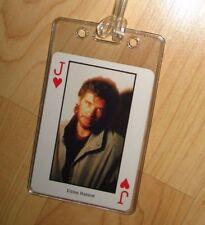 Eddie Rabbitt Luggage Tag - Vintage 1980's Country Music Western Playing Card