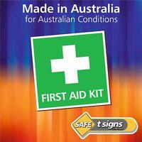 First Aid Kit - Sticker 100 x 100mm - Self Adhesive Vinyl Decal- Australian Made