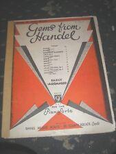 Partituras-Gemas De Handel para el piano 20 páginas 1934