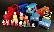 Peppa Pig Playset Paquete Mrs Rabbit Tren Coche Conjunto de la escuela