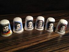 Thimbles - Set of 6, Henry Viii & 5 Wives! - Bone China - Made in Britain (b14)
