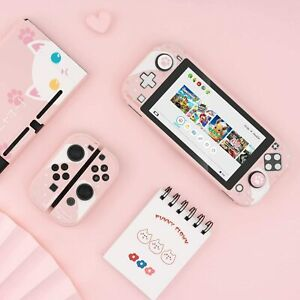 GeekShare Nintendo Switch Lite Protective Case Protective Cover Shell Pink Cat