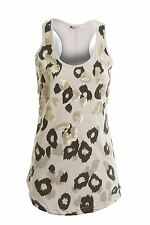 Ladies Sleeveless Embroided Sequin Tribal Pattern Women's Top Vest